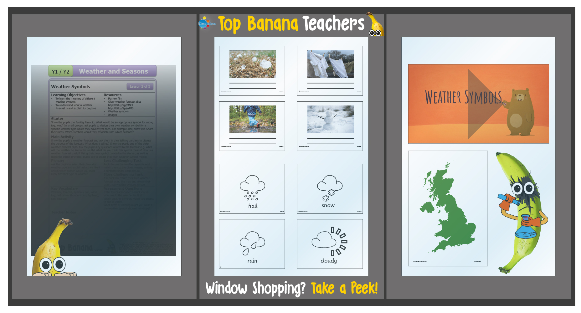 Weather Symbols Top Banana Teachers Resources Top Banana